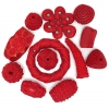 Resin Beads Irregular Chunky Shapes Red